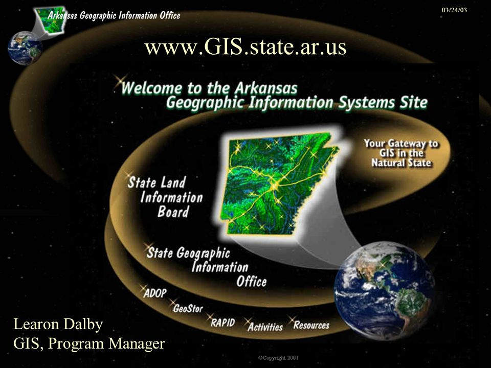 03/24/03 Geographic Information Systems GIS GIS is composed of hardware, software, spatial data and people.