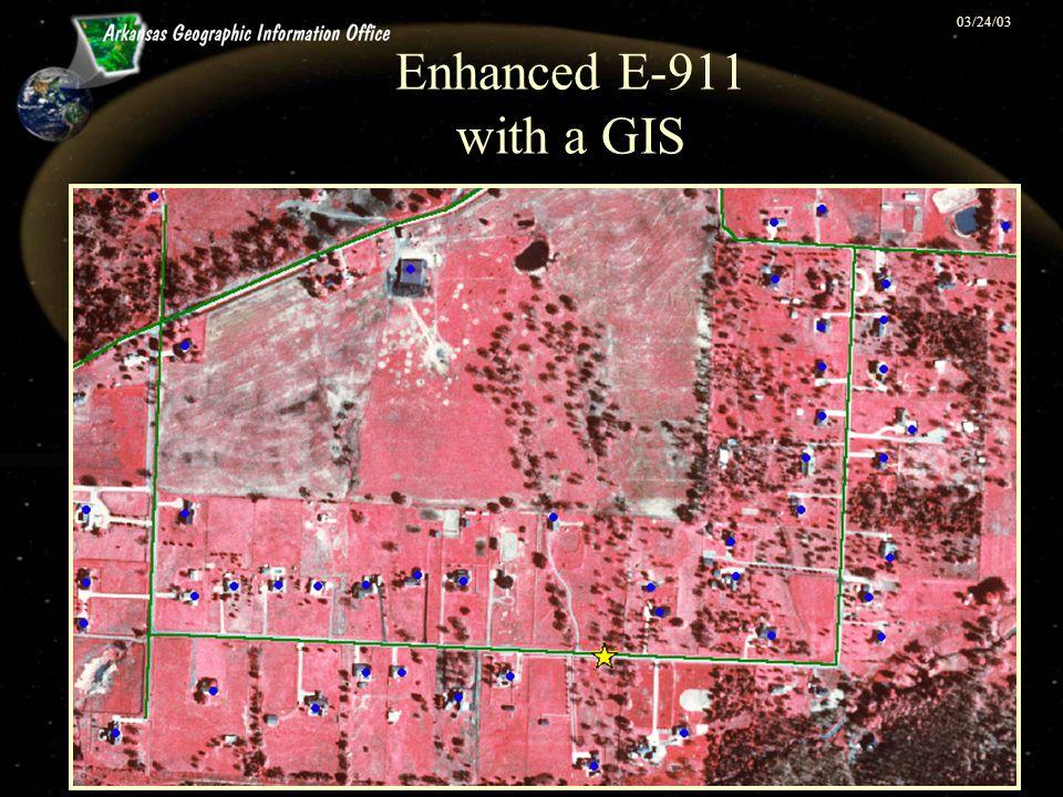 03/24/03 Enhanced E-911 with a GIS