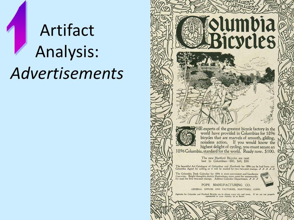 Artifact Analysis: Advertisements