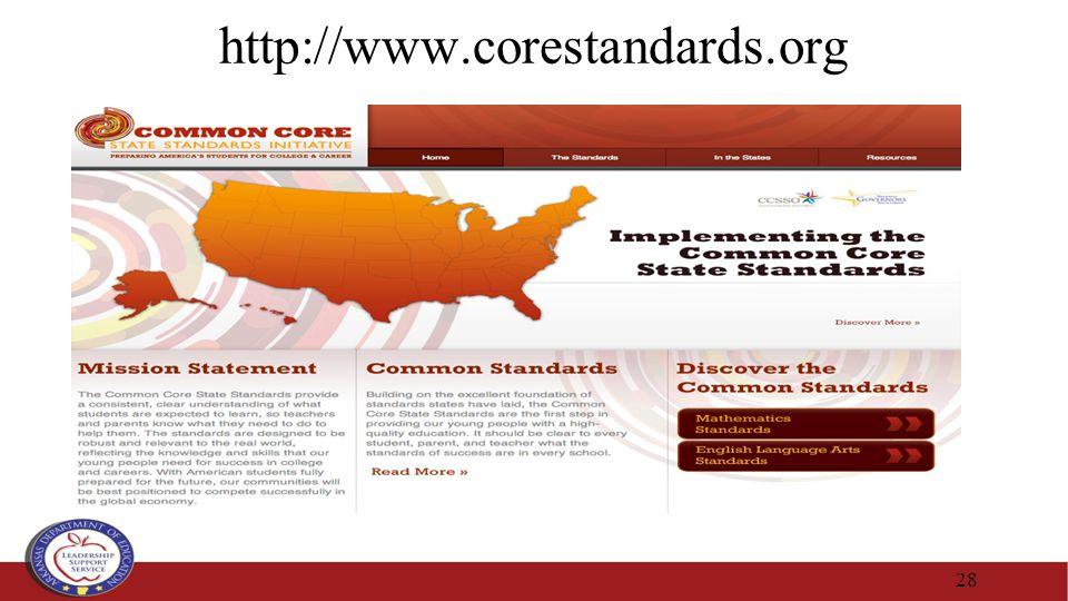 http://www.corestandards.org 28