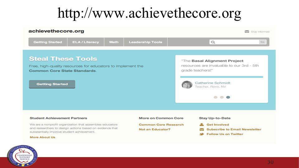 http://www.achievethecore.org 30