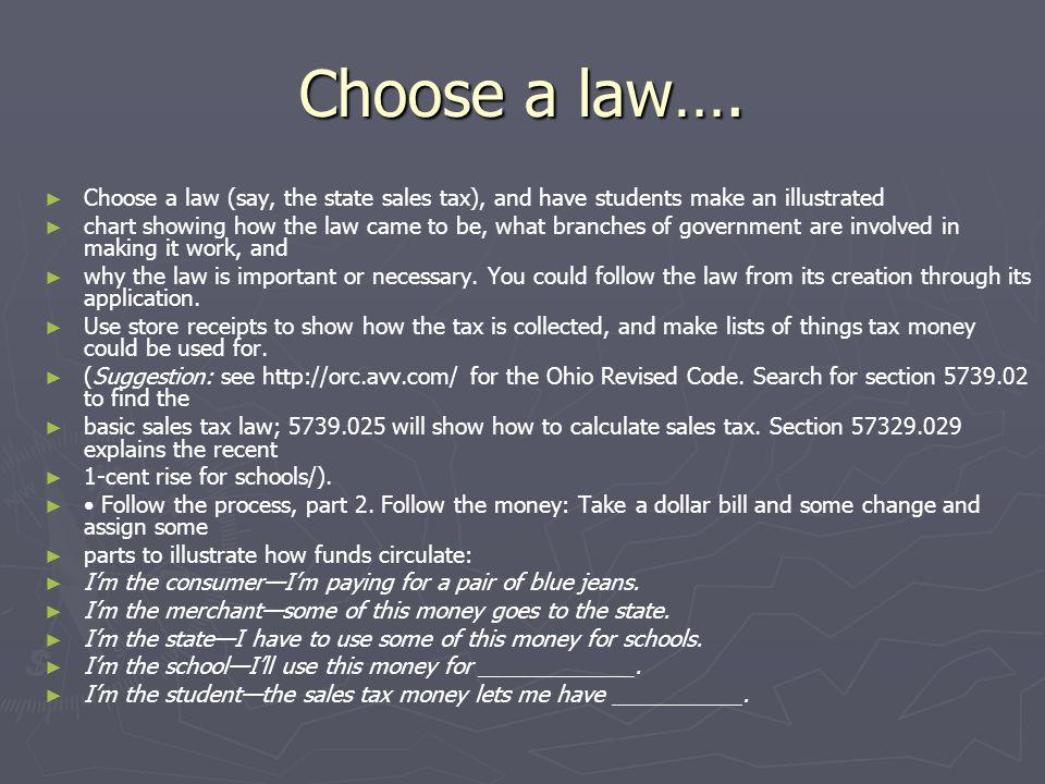 Choose a law….