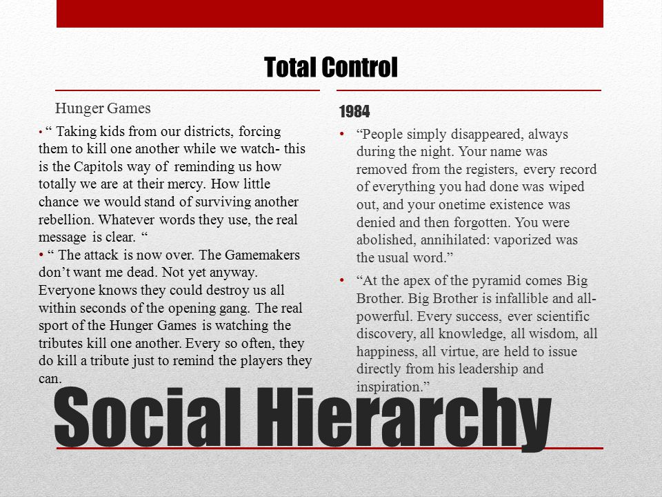 """Hunger Games 1984 Total Control """" Taking kids from our districts, forcing them to kill one another while we watch- this is the Capitols way of remindi"""