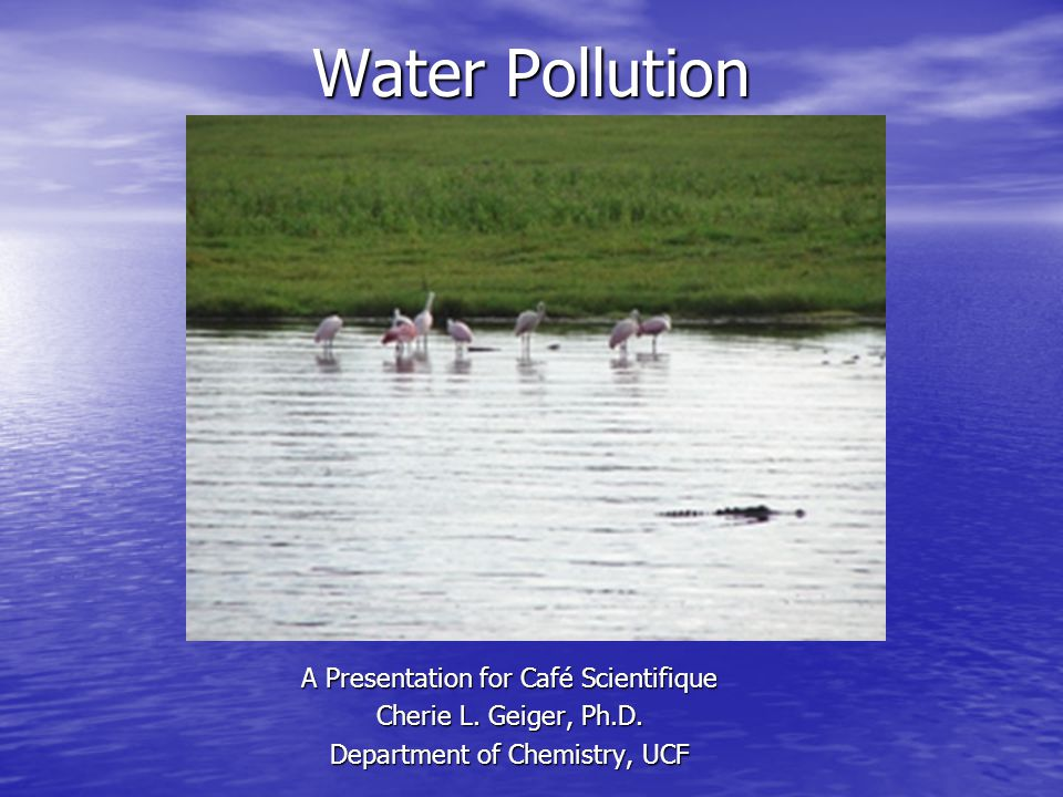 Water Pollution A Presentation for Café Scientifique Cherie L.