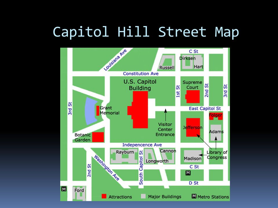 Capitol Hill Street Map Map