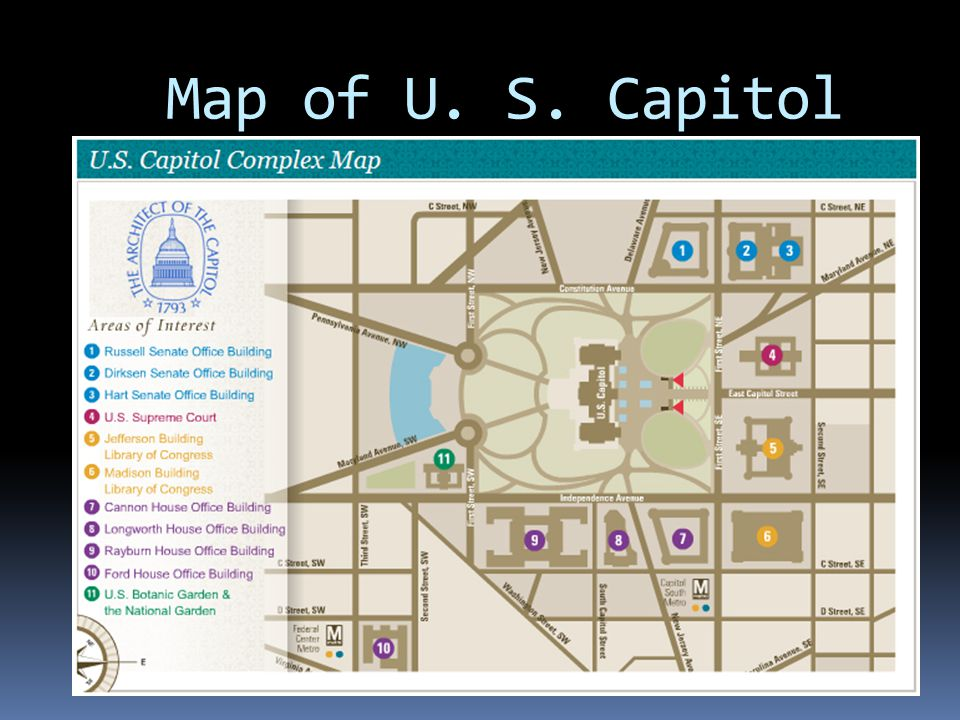 Map of U. S. Capitol