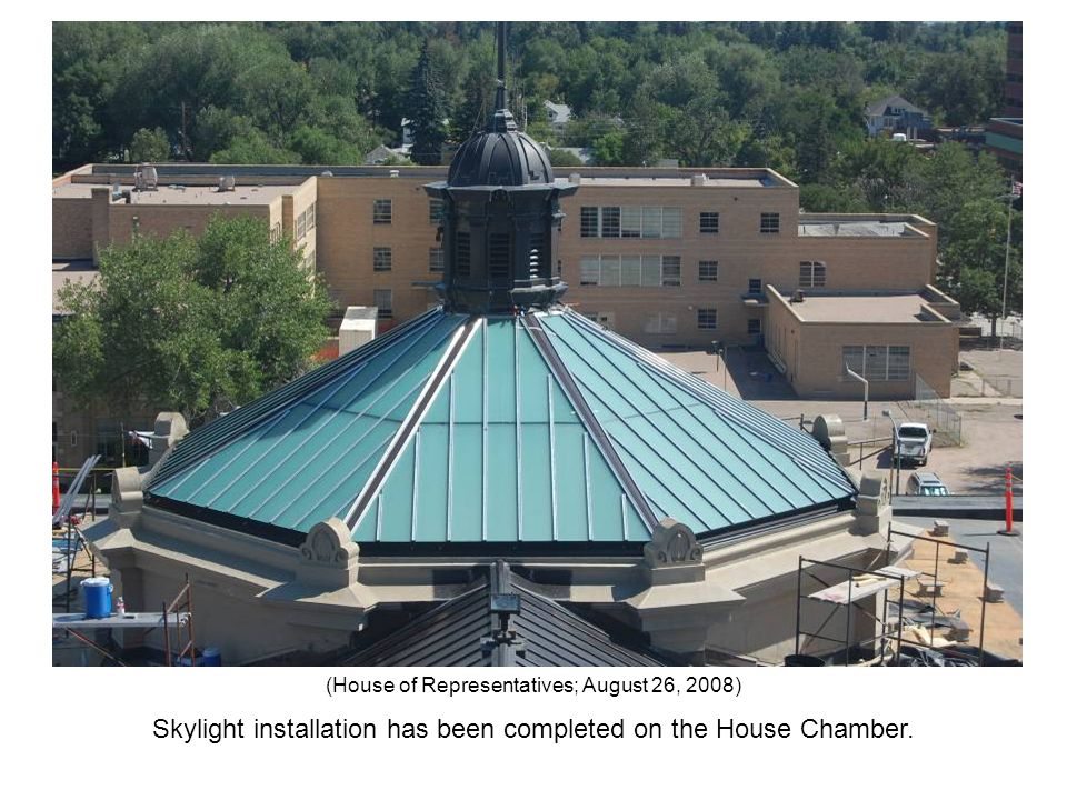 Skylight installation has been completed on the House Chamber. (House of Representatives; August 26, 2008)