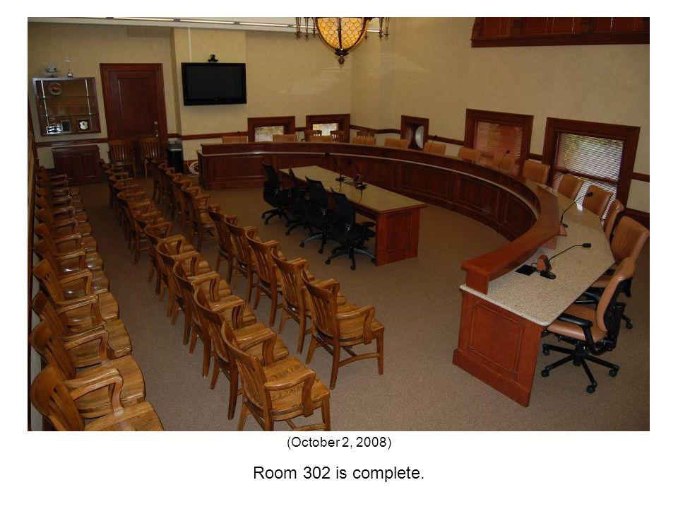 Room 302 is complete. (October 2, 2008)