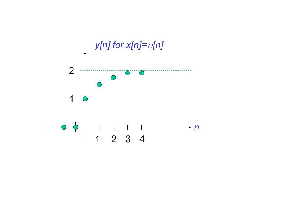 1234 n y[n] for x[n]=  [n] 1 2