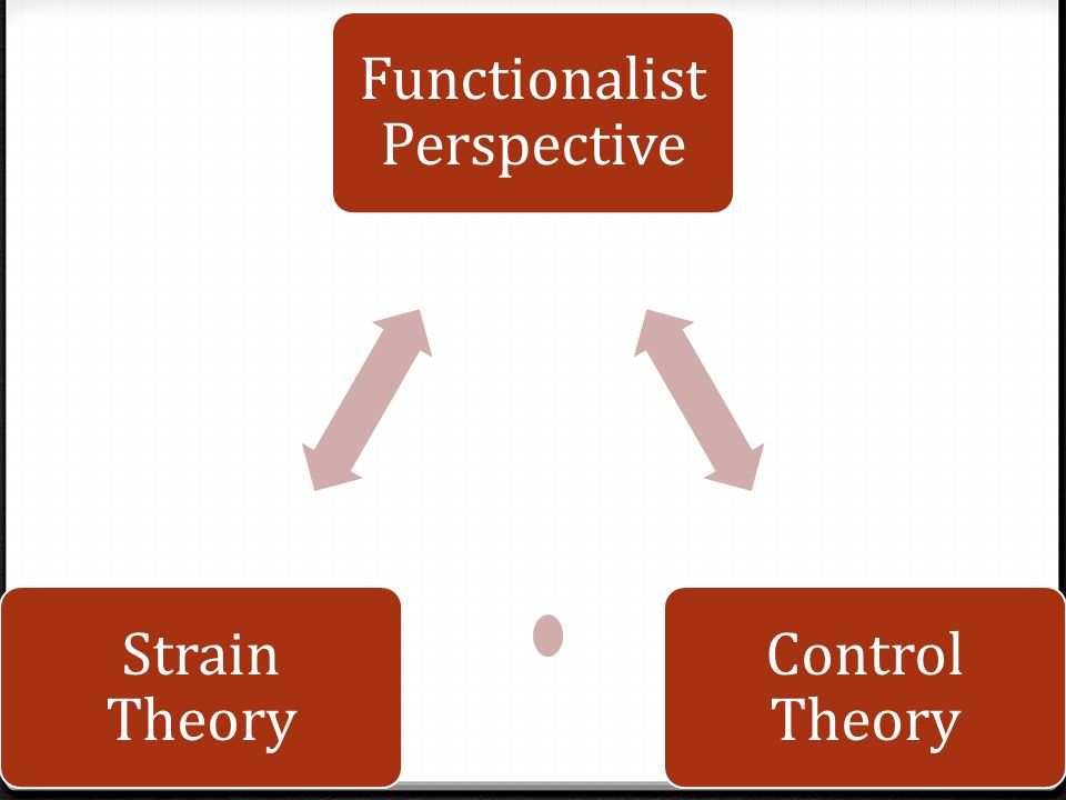 Functionalist Perspective Control Theory Strain Theory