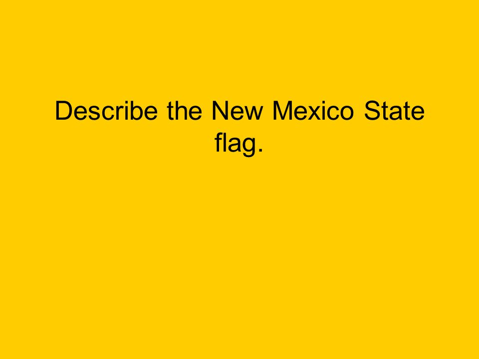 Describe the New Mexico State flag.