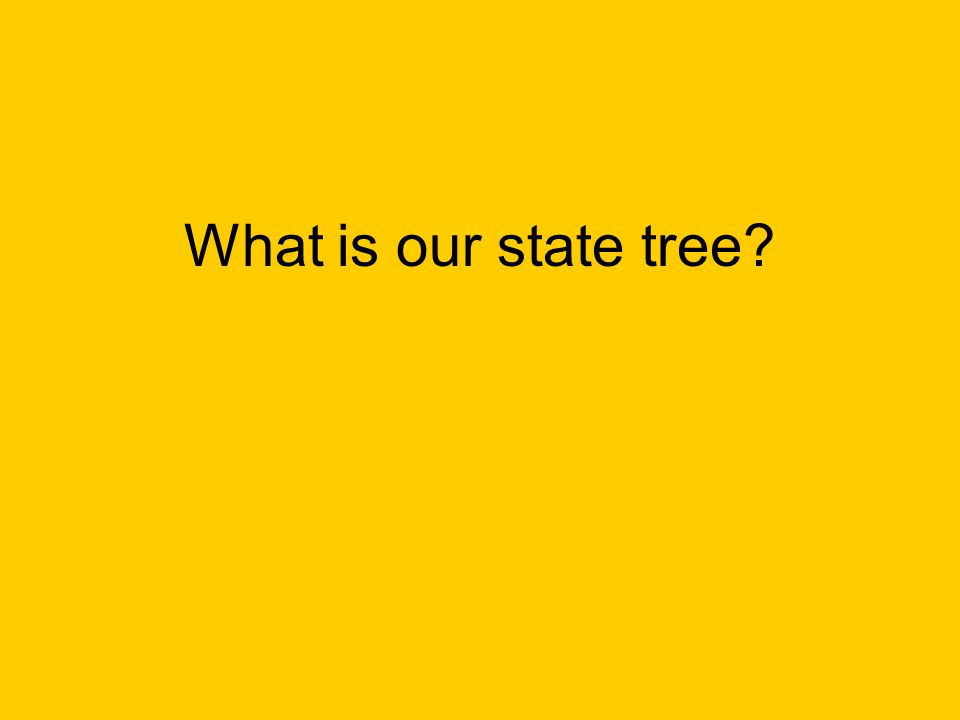 What is our state tree?