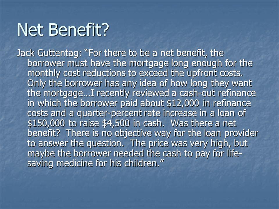 Net Benefit.
