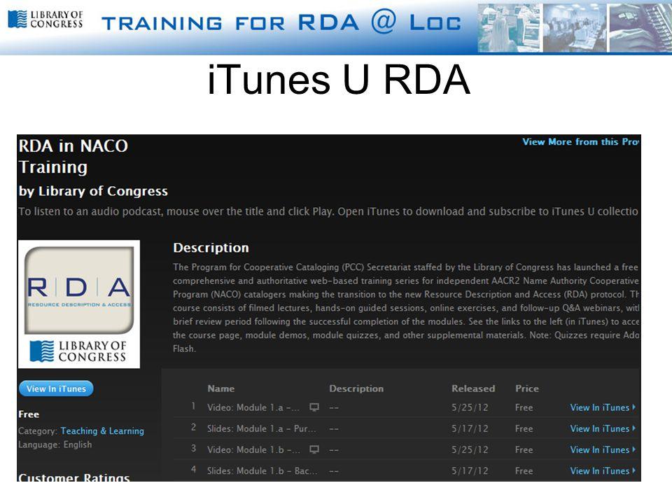 iTunes U RDA
