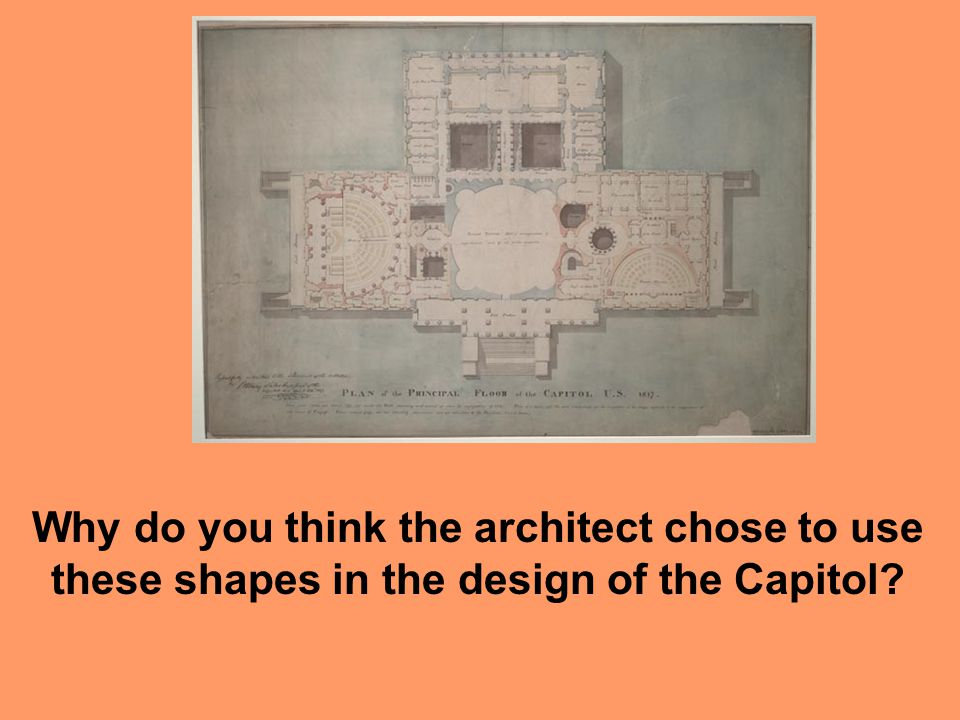 Why do you think the architect chose to use these shapes in the design of the Capitol?