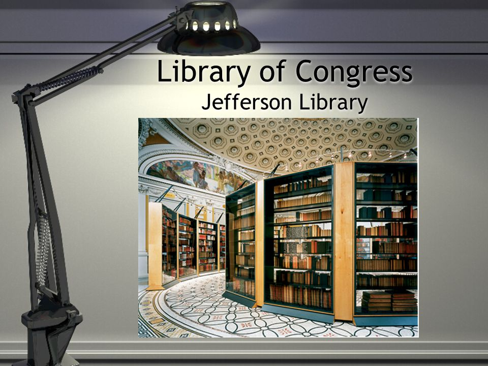 Library of Congress Jefferson Library