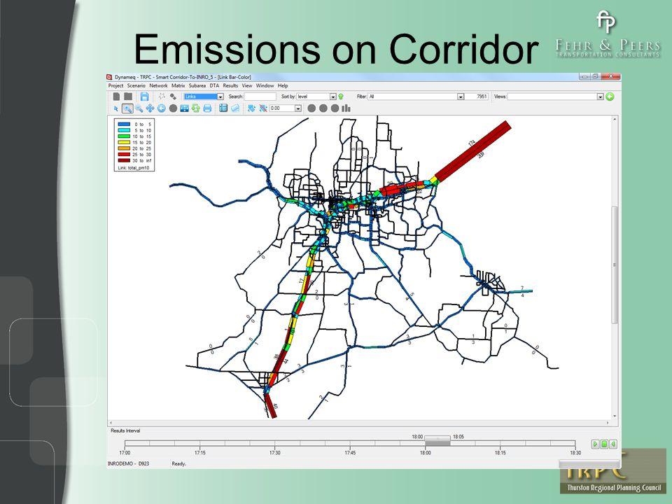 Emissions on Corridor