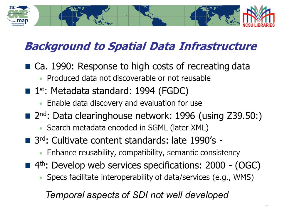 17 Background to Spatial Data Infrastructure Ca.