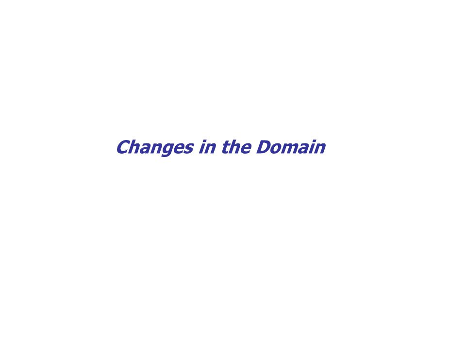 32 Changes in the Domain