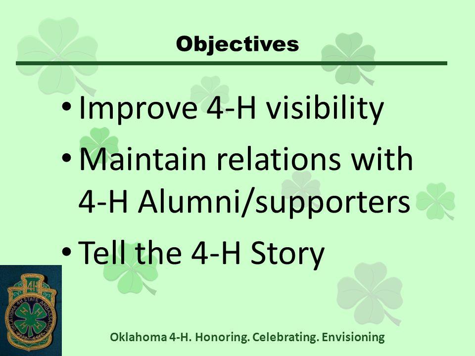Leadership Team Retreat Oklahoma 4-H. Honoring. Celebrating. Envisioning