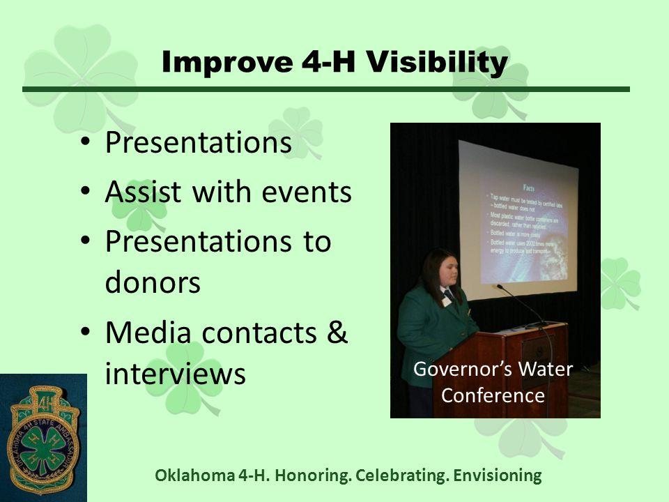 Status Active Semi-active Inactive Oklahoma 4-H. Honoring. Celebrating. Envisioning