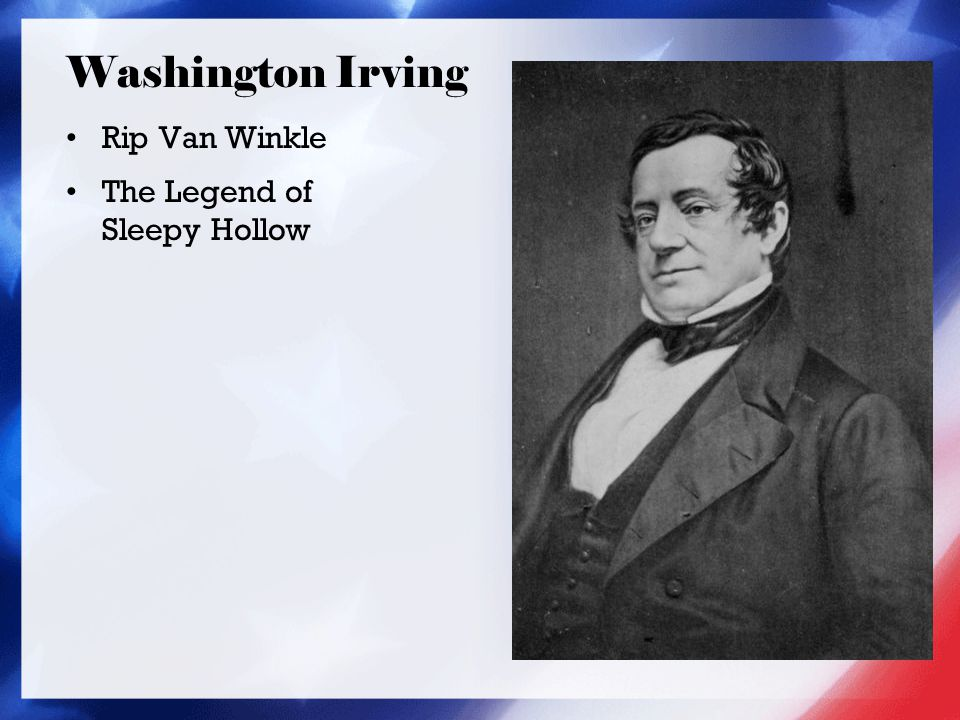 Washington Irving Rip Van Winkle The Legend of Sleepy Hollow