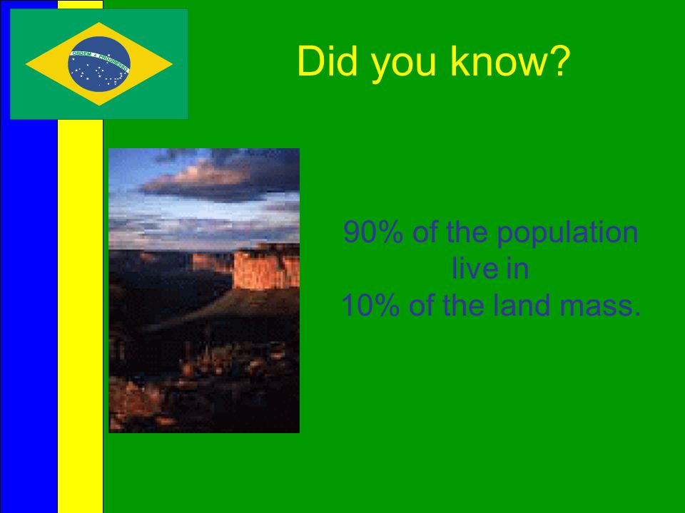 Early History  Brazil is the only Latin American nation that derives its language and culture from Portugal.