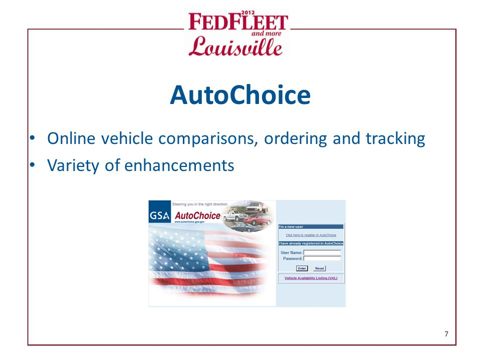 AutoChoice Online vehicle comparisons, ordering and tracking Variety of enhancements 7