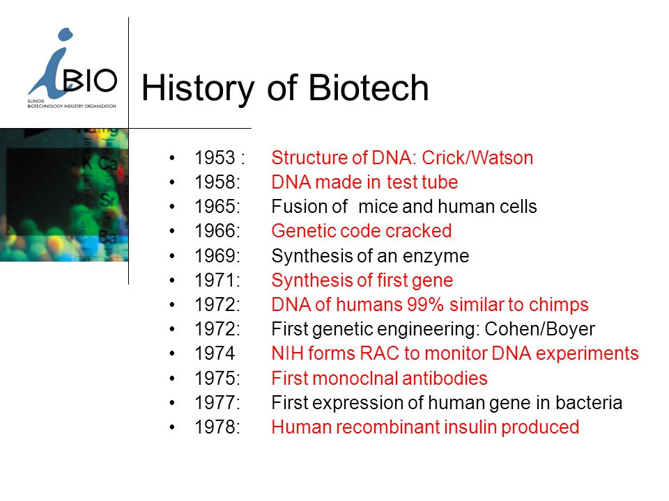 2001 Merger of Two Associations IBIO Chicago Biotech Network & Illinois Biotechnology Industry Organization CBN SYNERGY 225+ Members BIO State Chapter State & Local Representation Advocacy Program Human/Ag/Food Biotech
