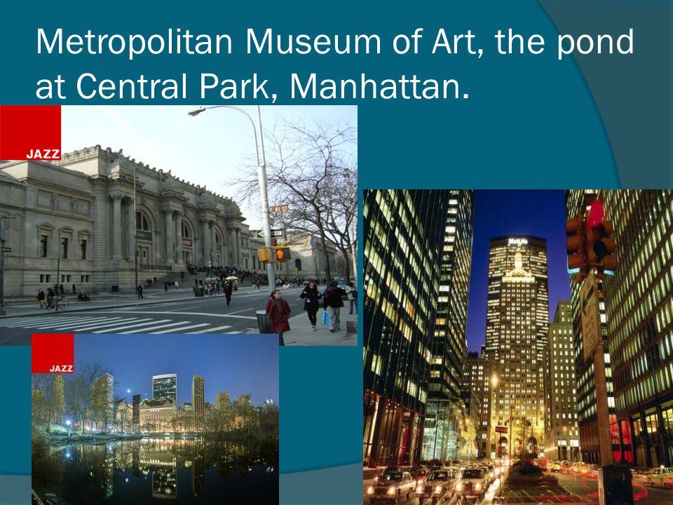 Metropolitan Museum of Art, the pond at Central Park, Manhattan.