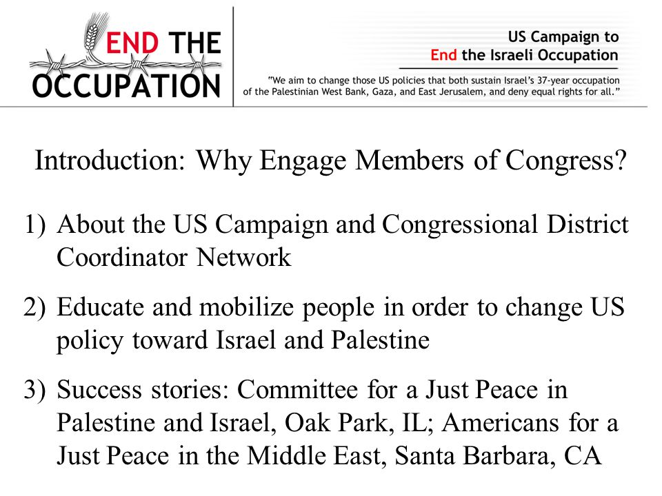 Introduction: Why Engage Members of Congress.