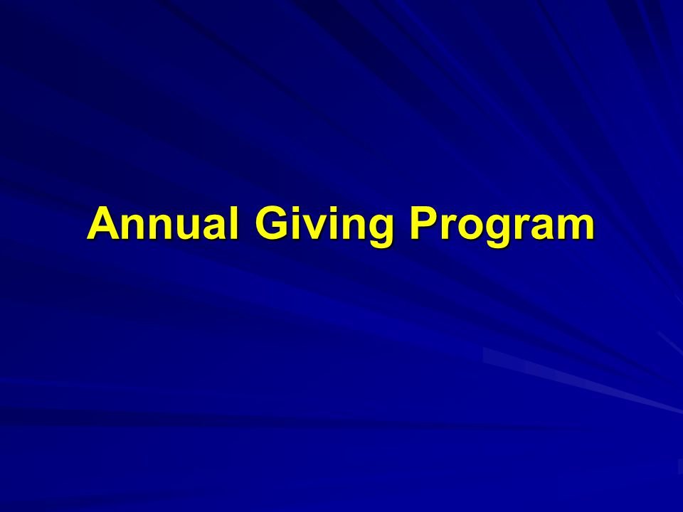 Annual Giving Program