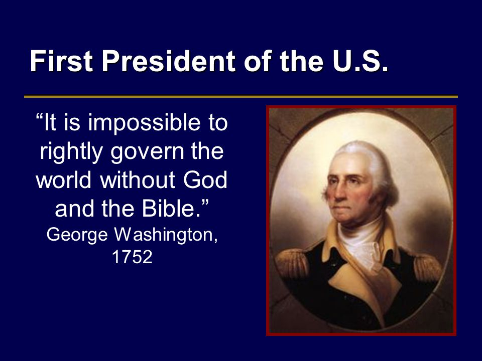 First President of the U.S.