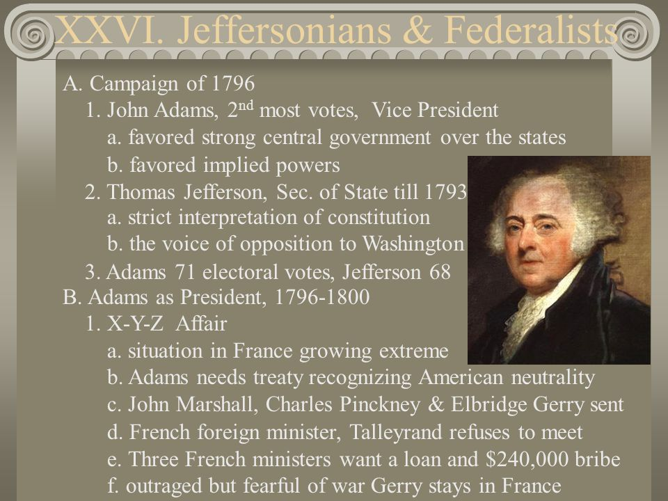 2.Congress takes steps towards War a. May of 1798 create Dept.