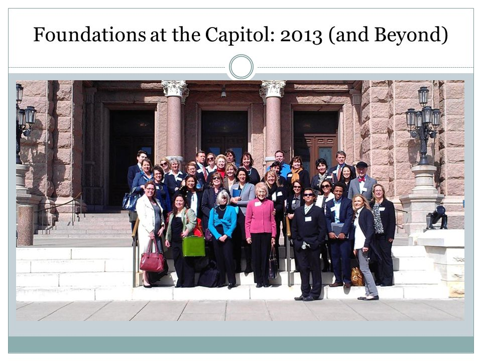 Foundations at the Capitol: 2013 (and Beyond)