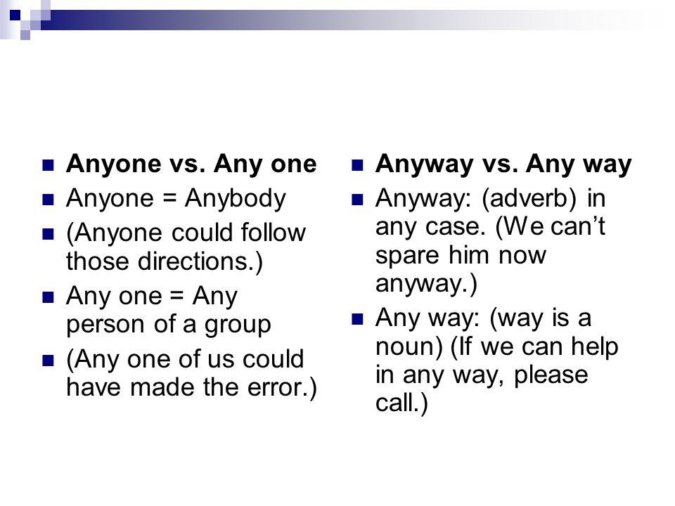 Anyone vs.