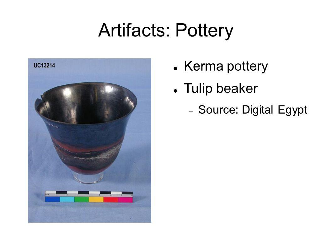 Artifacts: Pottery Kerma pottery Tulip beaker  Source: Digital Egypt