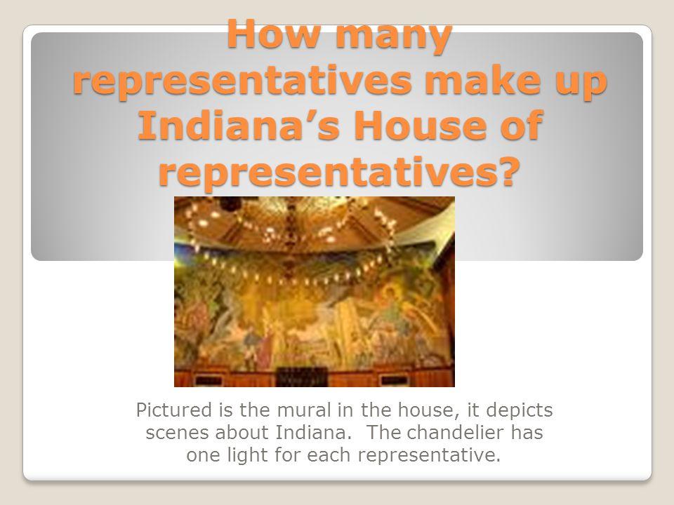 How many representatives make up Indiana's House of representatives.