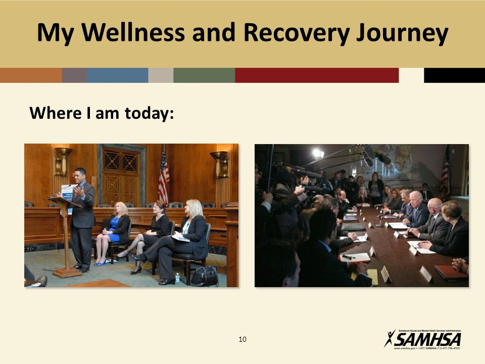 My Wellness and Recovery Journey Where I am today: 10
