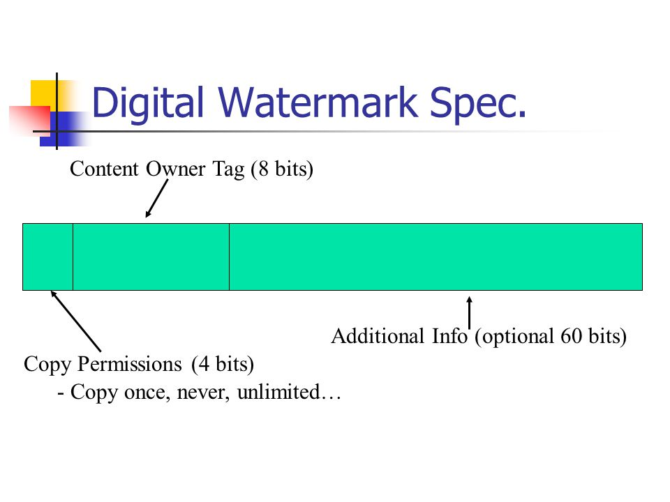 Digital Watermark Spec.
