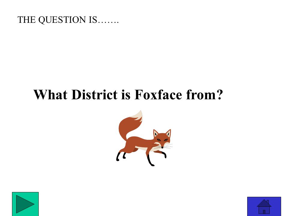 THE ANSWER IS………………. District 1