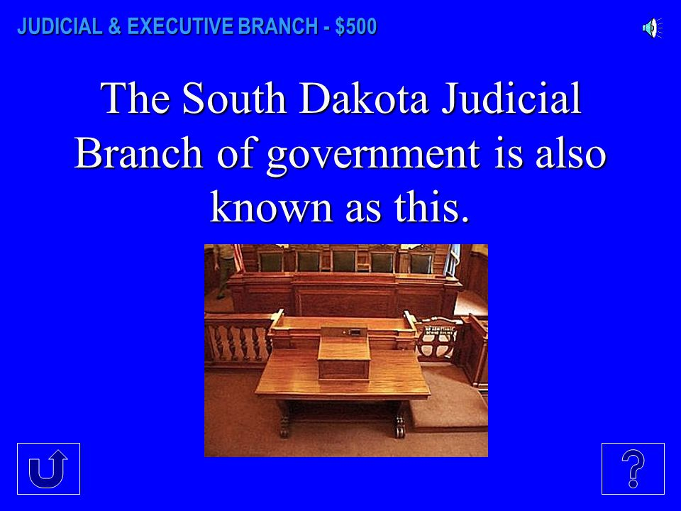 JUDICIAL & EXECUTIVE BRANCH - $400 The head of the Judicial Branch.