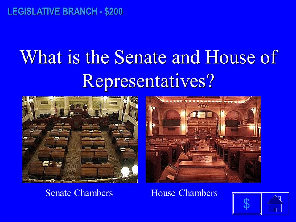 LEGISLATIVE BRANCH - $100 What is 35? $