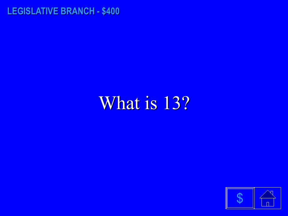 LEGISLATIVE BRANCH - $300 What is Pierre, South Dakota? $