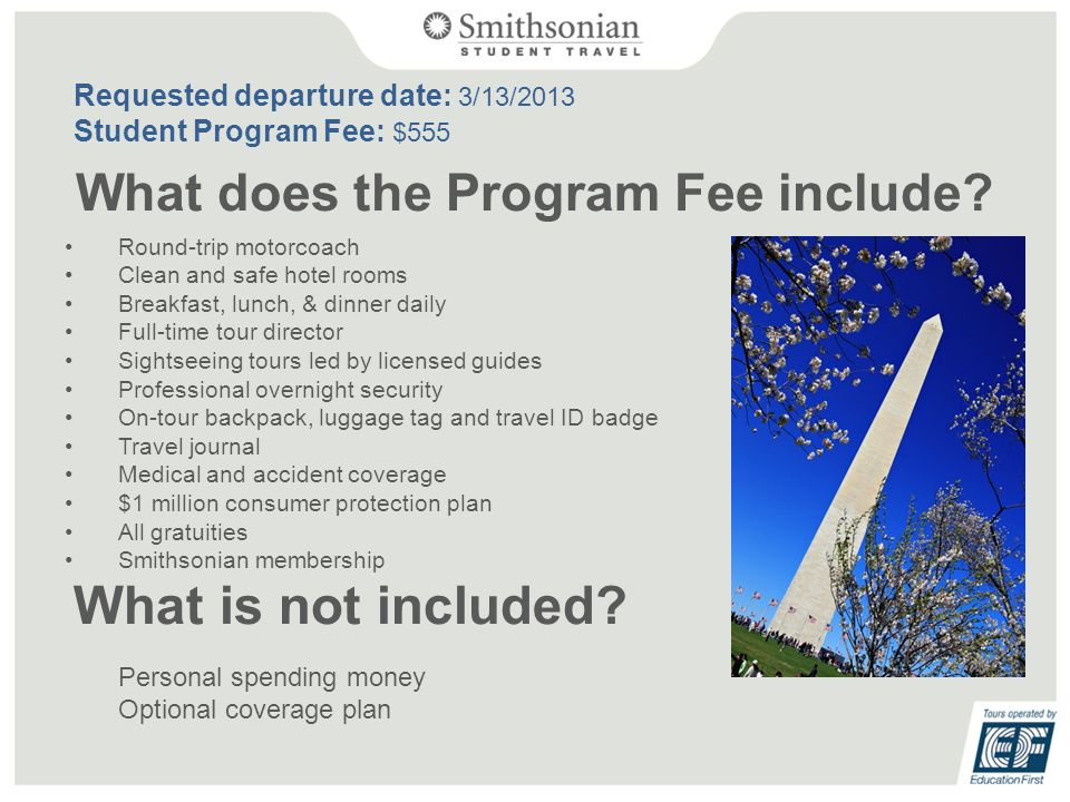 What does the Program Fee include.