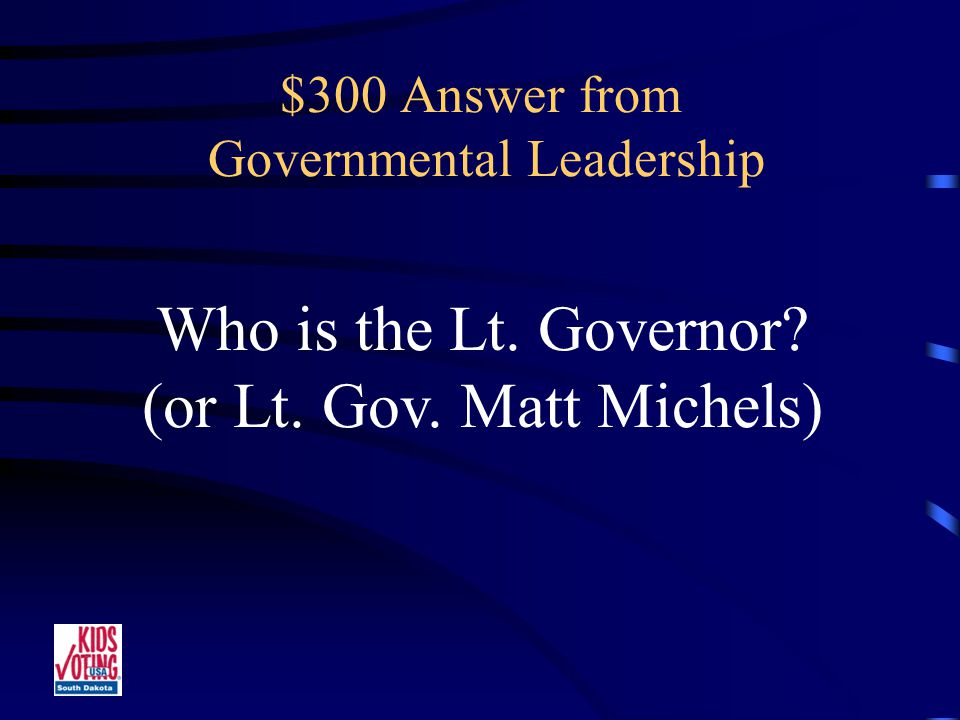 $300 Question from Governmental Leadership Presides as President of the Senate.