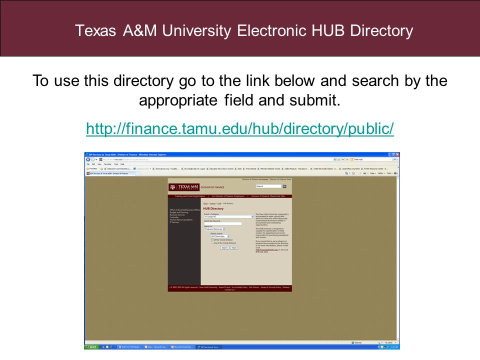 To use this directory go to the link below and search by the appropriate field and submit.