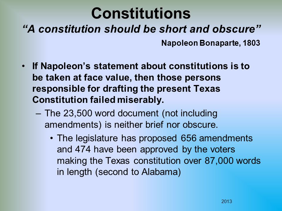 The Statehood Constitution (1845) Mexico had threatened to declare war on the United States if they annexed Texas.