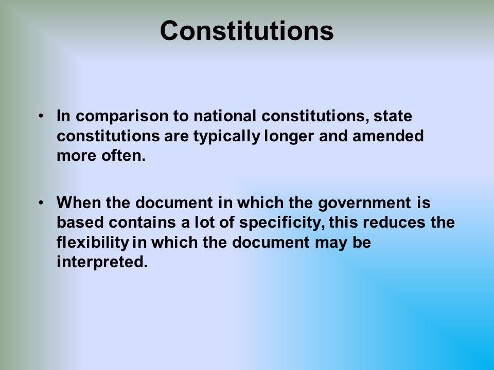 Comparing Constitutions