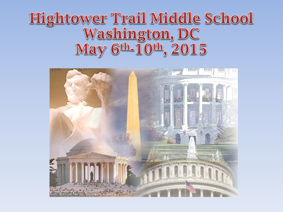 You will depart from your school late in the evening and drive overnight to Washington, DC.